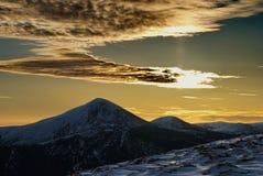 βουνό πρωινού goverla Στοκ εικόνα με δικαίωμα ελεύθερης χρήσης