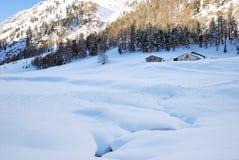 βουνό σαλέ Στοκ Εικόνες