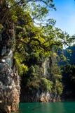Βουνό σε Khao-khao-sok Suratthani, Ταϊλάνδη Στοκ Εικόνες