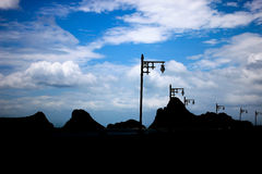 Βουνό σκιαγραφιών Στοκ Εικόνα
