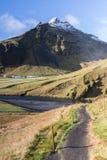 Βουνό στην Ισλανδία Στοκ Φωτογραφίες