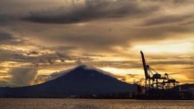 Βουνό στην πόλη bitung στοκ φωτογραφίες με δικαίωμα ελεύθερης χρήσης