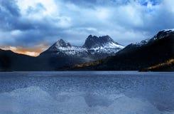 βουνό Τασμανία λίκνων Στοκ Φωτογραφίες