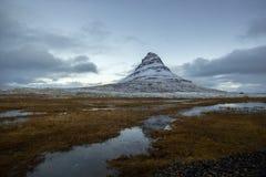Βουνό της Ισλανδίας Kirkjufell Στοκ Εικόνες