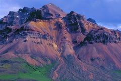 βουνό της Ισλανδίας rhyolitic στοκ εικόνες