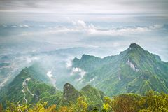 Βουνό της Κίνας Tianmen Shan Στοκ Φωτογραφίες