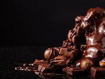 Βουνό της σοκολάτας και των σοκολατών candys Στοκ φωτογραφία με δικαίωμα ελεύθερης χρήσης