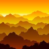 βουνό τοπίων άνευ ραφής Στοκ Εικόνα