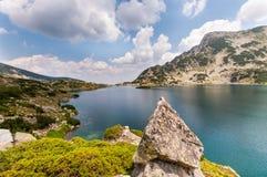 βουνό τοπίων λιμνών στοκ εικόνα