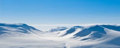 βουνό τοπίων χιονώδες Στοκ Εικόνες