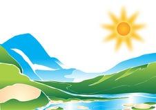 βουνό τοπίων διανυσματική απεικόνιση