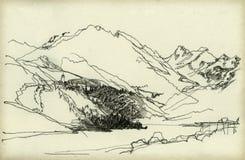 βουνό τοπίων απεικόνιση αποθεμάτων