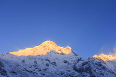 Βουνό του Ιμαλαίαυ Annapurna στην ανατολή, νότος Annapurna, Νεπάλ Στοκ φωτογραφίες με δικαίωμα ελεύθερης χρήσης