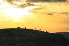 βουνό του Μαυροβουνίου komovi πεζοπορίας Στοκ Εικόνες