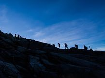 βουνό του Μαυροβουνίου komovi πεζοπορίας Στοκ φωτογραφία με δικαίωμα ελεύθερης χρήσης