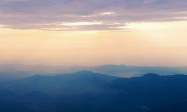 βουνό το πρωί Στοκ Εικόνες