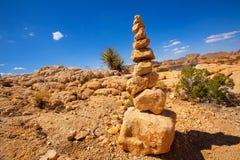 Βουνό των βράχων στο εθνικό πάρκο Καλιφόρνια δέντρων του Joshua Στοκ Φωτογραφίες