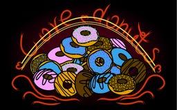 Βουνό των γλυκών donuts Στοκ εικόνες με δικαίωμα ελεύθερης χρήσης