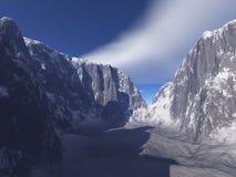 βουνό φαραγγιών χιονώδες Στοκ φωτογραφίες με δικαίωμα ελεύθερης χρήσης