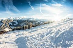 Βουνό χειμερινού χιονιού Στοκ φωτογραφία με δικαίωμα ελεύθερης χρήσης