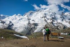 Βουνό χιονιού στην Ελβετία Στοκ Εικόνες