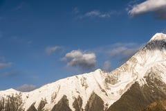 Βουνό χιονιού Gongga Στοκ φωτογραφία με δικαίωμα ελεύθερης χρήσης