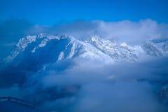 βουνό χιονώδες Στοκ Εικόνα
