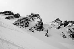βουνό χιονώδες Στοκ Φωτογραφία