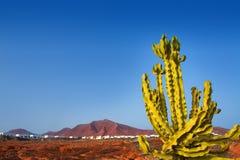 Βουνό Ajaches στο BLANCA Lanzarote Playa Στοκ εικόνες με δικαίωμα ελεύθερης χρήσης