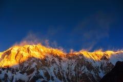 Βουνό Annapurna από το στρατόπεδο βάσεων Annapurna, Νεπάλ Στοκ Εικόνα