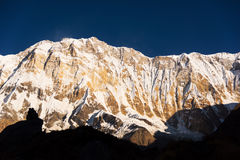 Βουνό Annapurna από το στρατόπεδο βάσεων Annapurna, Νεπάλ Στοκ εικόνες με δικαίωμα ελεύθερης χρήσης