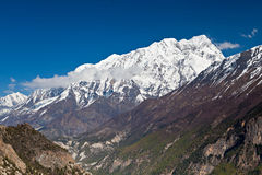Βουνό Annapurna, Ιμαλάια Στοκ φωτογραφίες με δικαίωμα ελεύθερης χρήσης