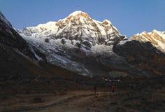 Βουνό Annapurna και στρατόπεδο βάσεων Annapurna Στοκ φωτογραφίες με δικαίωμα ελεύθερης χρήσης