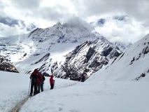 Βουνό Annapurna οδοιπορίας στο pokhara Νεπάλ Στοκ εικόνες με δικαίωμα ελεύθερης χρήσης
