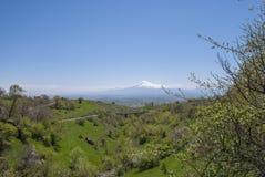 Βουνό Ararat από Byurakan Στοκ εικόνες με δικαίωμα ελεύθερης χρήσης