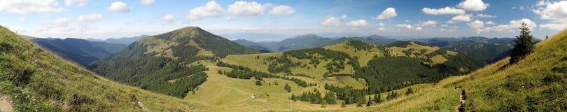 Βουνό Borisov από Ploska στα βουνά Velka Fatra στη Σλοβακία Στοκ Εικόνα
