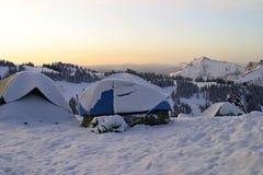 Βουνό Campground Στοκ φωτογραφίες με δικαίωμα ελεύθερης χρήσης