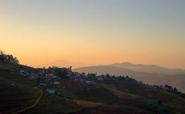 Βουνό Cham Mon (μαρμελάδα Mon), πλαίσιο της Mae, στο chiangmai, Ταϊλάνδη Στοκ Φωτογραφίες