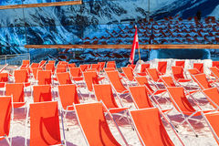 Βουνό deckchairs Στοκ Εικόνες