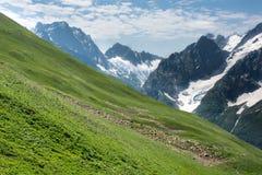 Βουνό Dombai, Καύκασος, Ρωσία στοκ εικόνα