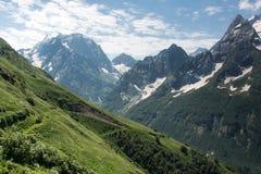 Βουνό Dombai, Καύκασος, Ρωσία στοκ εικόνα με δικαίωμα ελεύθερης χρήσης
