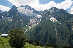 Βουνό Dombai στοκ εικόνες