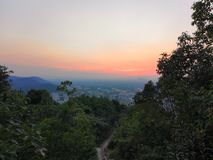 Βουνό hangzhou xihu της Κίνας downlight στοκ φωτογραφία