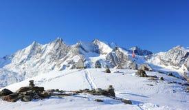 Βουνό Hohsaas, 3.142 μ Οι Άλπεις, Ελβετία Στοκ Εικόνα