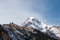Βουνό Kazbek Στοκ Εικόνες