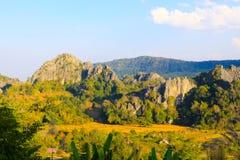 Βουνό Loei Ταϊλάνδη Hin Pha Ngam Suan Στοκ φωτογραφία με δικαίωμα ελεύθερης χρήσης