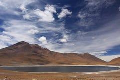 βουνό Pedro SAN της Χιλής de lagoon atacama Στοκ φωτογραφίες με δικαίωμα ελεύθερης χρήσης