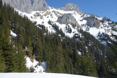 Βουνό Rote Flà ¼ χ Αυστρία άποψης στοκ εικόνες με δικαίωμα ελεύθερης χρήσης