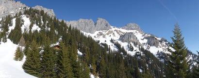 Βουνό Rote Flà ¼ χ Αυστρία άποψης στοκ εικόνα με δικαίωμα ελεύθερης χρήσης