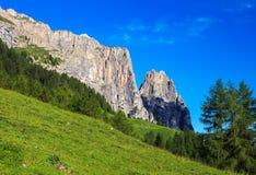 Βουνό Sciliar στην Ιταλία Στοκ Εικόνα